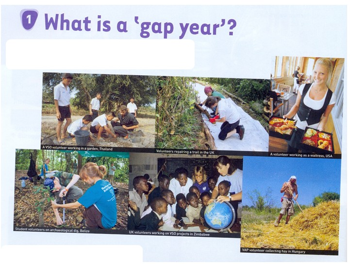 spaces and exchanges gap year